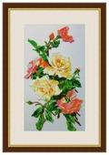 Galla Collection Набор для вышивания бисером Розовая акварель 20 х 34 см (Л327)