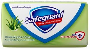 Антибактериальное кусковое мыло Safeguard Нежный уход с Алоэ