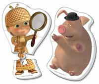 Набор пазлов Vladi Toys Маша и Медведь - Шерлок Холмс (VT1108-04)