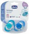 Пустышка силиконовая ортодонтическая Chicco Physio Compact 12+ (2 шт)