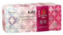 Туалетная бумага Maneki Kabi С ароматом ириса белая трёхслойная