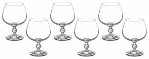 Bohemia Crystal Набор бокалов для бренди Клаудия 250 мл 6 шт