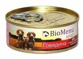 Корм для собак BioMenu Adult консервы для собак с говядиной