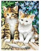 "Белоснежка Картина по номерам ""Котята"" 30х40 см (231-CE)"