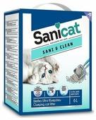 Наполнитель для туалета бентонитовый комкующийся SANICAT Sani Clean 6 л (БП000006920)