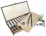 Малевичъ Масляные краски 10 цветов х 40 мл в деревянной корбке (830200)