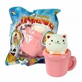 Игрушка-мялка 1 TOY Кошка в чашке Т12415