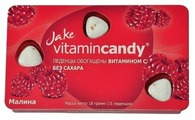Леденцы Jake vitamincandy Малина 18 г