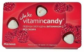 Леденцы Jake vitamincandy Малина 18 г