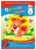 Цветной картон Бельчонок с цветком Апплика, A4, 6 л., 6 цв.