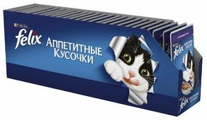Корм для кошек Felix Аппетитные кусочки с ягненком 85 г (кусочки в желе)