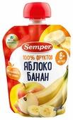 Пюре Semper яблоко и банан (с 6 месяцев) 90 г, 12 шт.