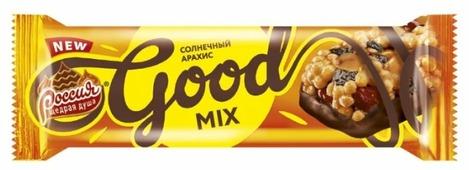 Батончик Россия - Щедрая душа! Good Mix Солнечный Арахис, 33 г