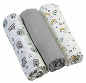 Многоразовые пеленки BabyOno супермягкие муслин 70х70 комплект 3 шт.