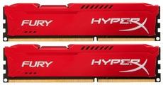 Оперативная память Kingston HyperX Fury Red 2x8GB KIT DDR3 PC3-12800 HX316C10FRK2/16