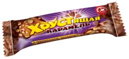 Конфеты Богатырь Хрустящая карамель с шоколадом, арахисом, воздушным рисом и кукурузными хлопьями