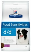 Корм для собак Hill's Prescription Diet Food Sensitivities d/d Duck&Rice