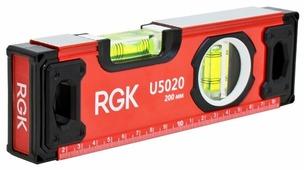 Уровень брусковый 2 глаз. RGK U5020 20 см