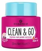 Essence Жидкость для снятия лака Clean & Go Express, с губкой