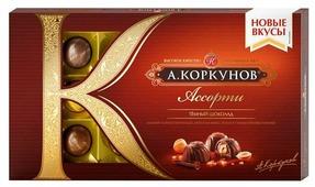 """Набор конфет Коркунов """"Ассорти"""" темный шоколад 192 г"""