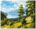"""Белоснежка Картина по номерам """"Лесной пейзаж"""" 40х50 см (166-АВ)"""