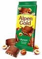 Шоколад Alpen Gold молочный с фундуком