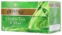 Чай зеленый Twinings Green tea & Mint в пакетиках