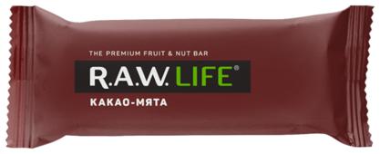 Фруктовый батончик R.A.W. Life без сахара Какао-Мята, 47 г