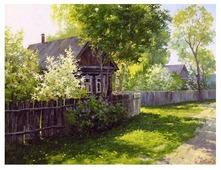 """Цветной Картина по номерам """"Весна в деревне"""" 40х50 см (GX5176)"""