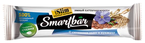 Злаковый батончик Smartbar Slim с семенами льна и кунжута, 25 г
