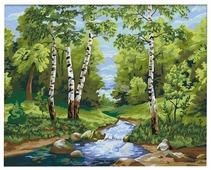 """Мосфа Картина по номерам """"Лесной ручей"""" 40х50 см (7С-0174)"""