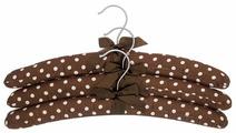 Вешалка EL CASA набор Коричневые в горошек с бантиком