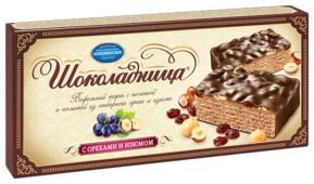 Торт Шоколадница с орехами и изюмом