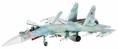Сборная модель ZVEZDA Российский многоцелевой истребитель завоевания превосходства в воздухе Су-27СМ (7295) 1:72