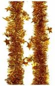 Мишура Феникс Present новогодняя со звездами 200 х 6 см