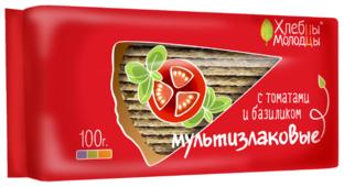 Хлебцы мультизлаковые Хлебцы-молодцы с томатами и базиликом 100 г