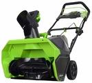 Снегоуборщик аккумуляторный greenworks GD40SB 2600607 с аккумулятором 4 А.ч