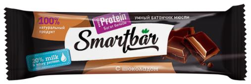 Протеиновый батончик Smartbar Protein в темной глазури с шоколадом, 40 г