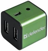 USB-концентратор Defender Quadro Iron (83506), разъемов: 4