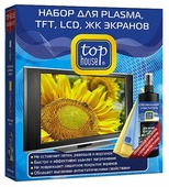 Набор Top House для PLASMA, TFT, LCD и ЖК экранов (3 предмета) чистящий спрей+сухие салфетки для экрана