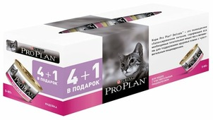 Корм для кошек Purina Pro Plan Delicate беззерновой, с индейкой 85 г (паштет)