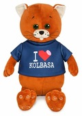 Мягкая игрушка Maxitoys Колбаскин фанат колбасы 25 см