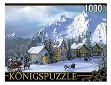 Пазл Рыжий кот Konigspuzzle Доминик Дэвидсон Снежные альпы (МГК1000-8249), 1000 дет.