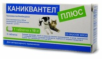 Euracon Pharma Каниквантел Плюс для собак и кошек (6 таблеток)