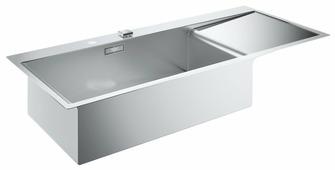 Врезная кухонная мойка Grohe K1000 31581SD0 116х52см нержавеющая сталь
