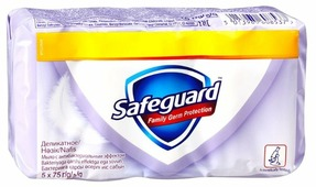 Антибактериальное кусковое мыло Safeguard Деликатное