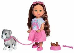 Кукла Simba Holiday Еви с собачкой и аксессуарами, 12 см, 5733272