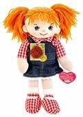 Мягкая игрушка Мульти-Пульти Мягкая кукла рыжая в джинсовом сарафане 35 см
