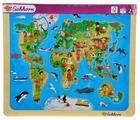 Рамка-вкладыш Eichhorn Карта мира (100005450), 13 дет.