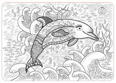 ЯиГрушка Коврик-раскраска Дельфин (маленький)